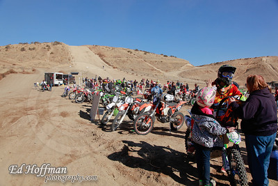 Clay Peaks,Payette,Idaho.wide shot of the Starting area. Offroad Racing.