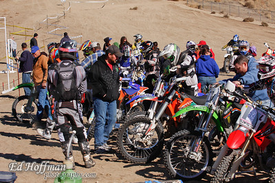 Clay Peaks,Payette,Idaho. Group at the starting area. Offroad Racing.