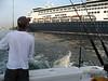 leaving the marina ..Maasdam docked