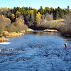 Fly Fisherman on River Philip, Nova Scotia