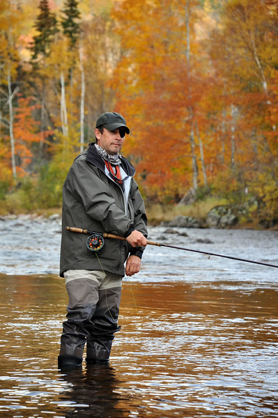 Fly Fisherman on the Margaree River, Cape Breton, Nova Scotia