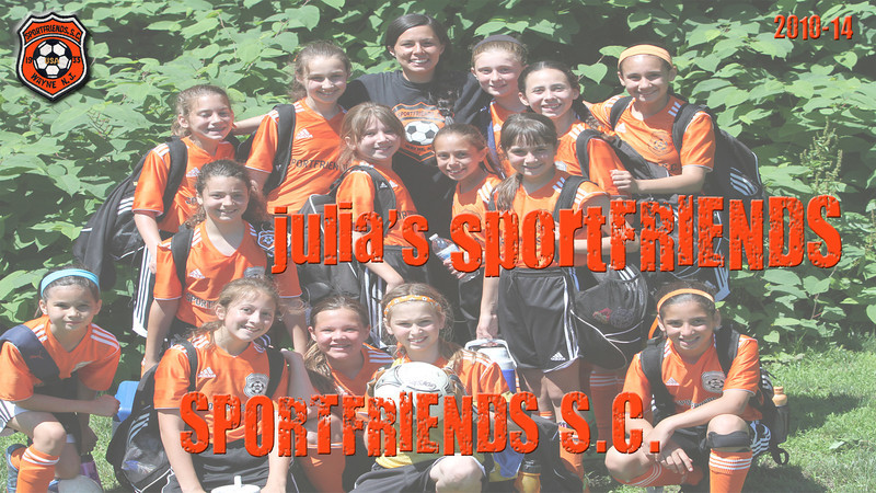 Julia met alot of great friends during her time on Sportfriends S.C. with Coaches Aly and Amanda