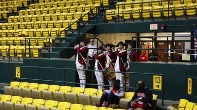 Fife and Drum Corps in William and Mary Hall
