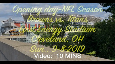 Browns  Titans- Sun., Sept. 8, 2019, First Energy Stadium, Cleveland, OH