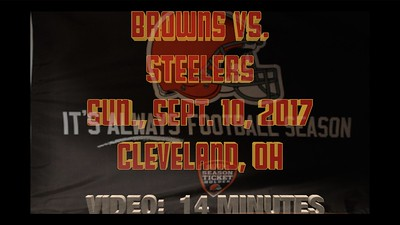 Video:  14 mins ~~ Browns vs Steelers, Opening Day, NFL Football, Cleveland, OH., Sun., Sept. 10, 2017