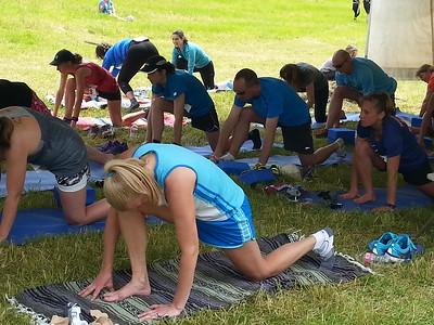 post race yoga