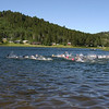 Swimming component of the Iron Creek Triathlon
