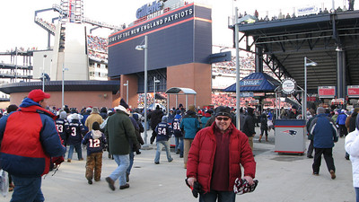 Entering Gillette Stadium