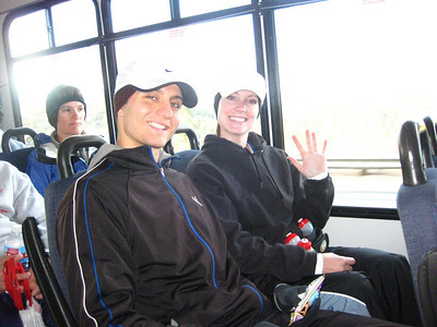 Bus ride to the start line.