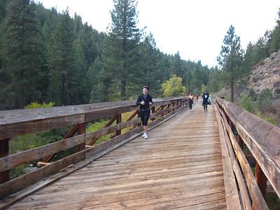 Molly on a bridge.