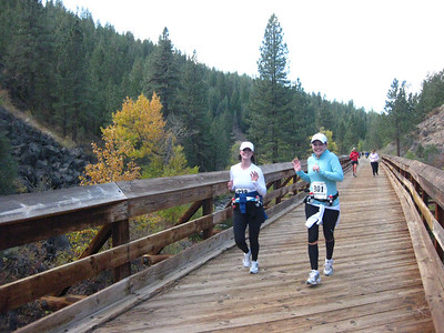 Kaylynn and Rebecca on the bridge.