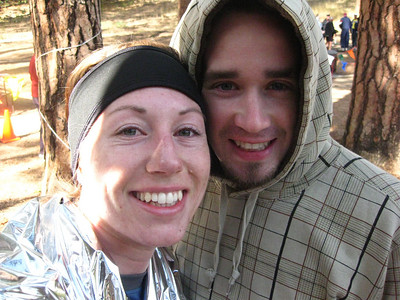Finished! Molly and Christian at the finish line.