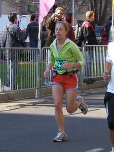 "Sprinting to the finish! I have NEVER had that much energy at the finish of a race before... Look--Even that guy behind me is saying, ""Dang! Look at that girl go!"""