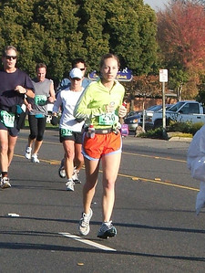 Look at that concentration... (Or maybe I'm checking out the person's butt in front of me. Marathons give you a lot of time to do dumb stuff like that)
