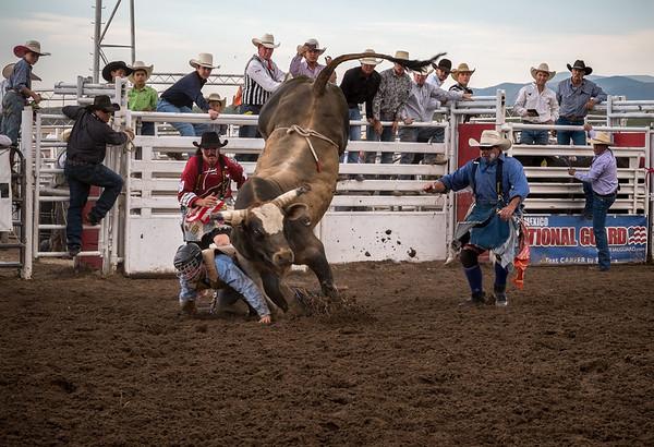 Bull Rides Man