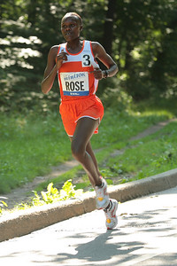 Rose Kosgei of Kenya on her way to a 32:43 victory in the 38th NYRR New York Mini 10K on June 7, 2009.