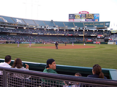 A's game with Rod Deraney 20??