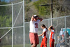 Bountiful High School's Manager Butch Latey reacts to his hopes of a come from behind victory being dashed at the end of the seventh inning at Millcreek Junior High School in Bountiful on April 17, 2014. (ROBBY LLOYD/ Special to the Standard-Examiner)
