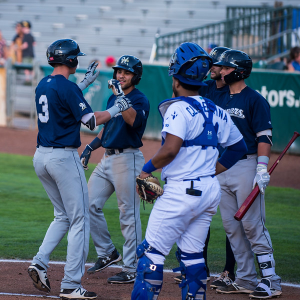 The Raptors lost to the Helena Brewers 6-8 to bring them to 14-14 for the season at Lindquist Field, in Ogden, on Monday July 17, 2017.