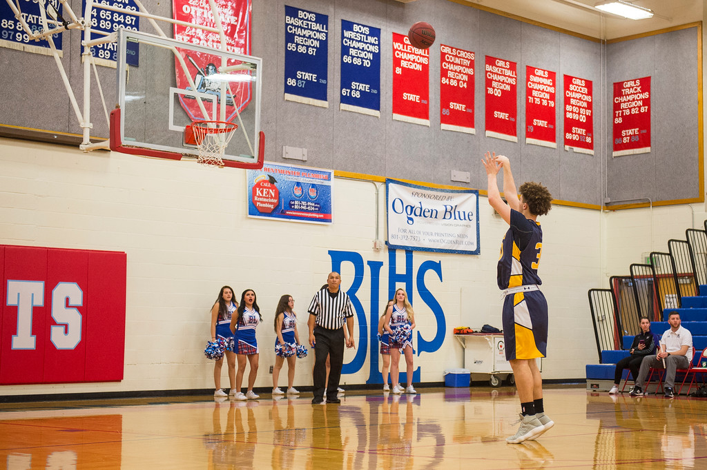 Bonneville got off to a great start against Ben Lomond, tripling their score going into half and not letting up in the second half, to finish the game 54-30, at Ben Lomond High School, in Ogden, on Wednesday, January 17, 2018.