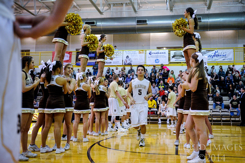 The Davis Darts hosted the Viewmont Vikings at Davis High School on January 13, 2015.