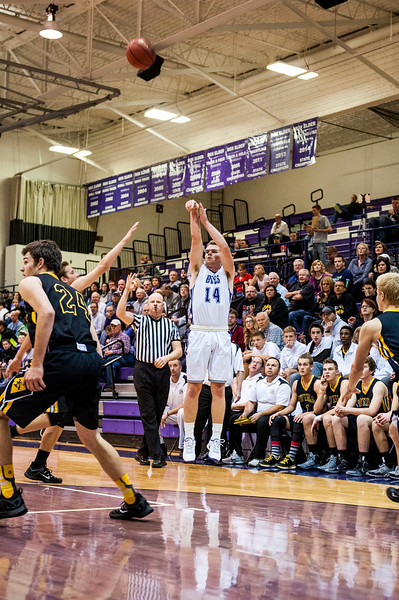 The Box Elder Bees hosted the Roy Royals and defeated them 76-62 at Box Elder High School in Brigham City on December 16, 2015.