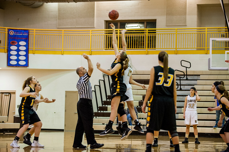 The Royals took control of the game early on and never let up on the Darts in their 46-33 victory over the team in girls prep basketball at Davis High School in Kaysville on December 10, 2015.