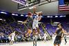 Joel Bolomboy (21), of Weber State, dunks over Antelope Valley defender Josh Sanchez (11), after a fast break at the Dee Events Center in Ogden on November 19, 2015.