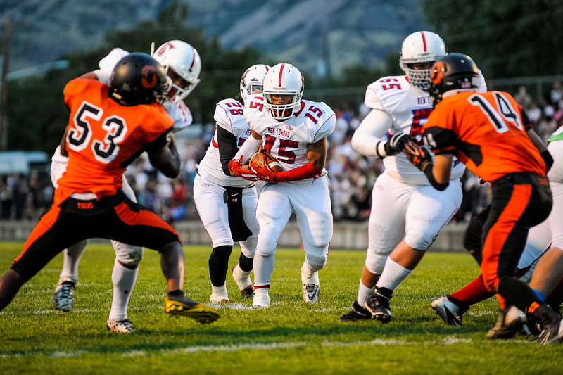 The Ben Lomond Scots handily defeat the Ogden Tigers in the Iron Horse rivalry game at Ogden High School on September 26, 2014.