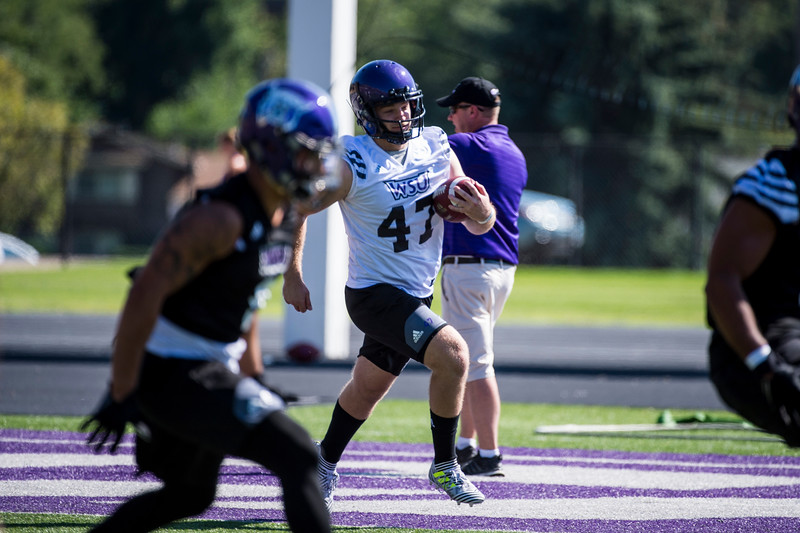 Today, August 1, 2017, marked the first day of Weber State Football's training camp, lead by head coach, Jay Hill, at Stewart Stadium, in Ogden.