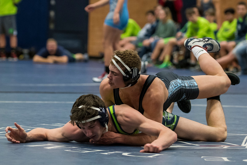 The Layton Lancers dominated the Syracuse Titans in a region 1 wrestling match, winning 49-16 at Layton High School, in Layton, on Thursday, January 18, 2018.