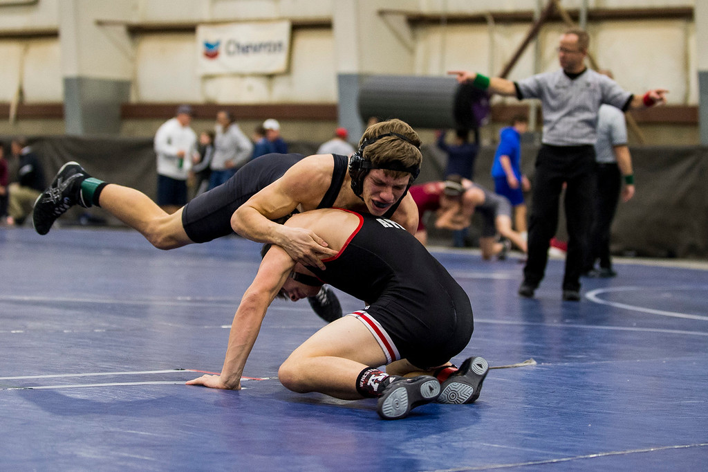 The Layton High and Pleasant Grove teams took the top qualifying spots in the 5A divisional tournament to qualify for the state wrestling championships at the Legacy Events Center in Farmington, on Thursday, February 2, 2017.