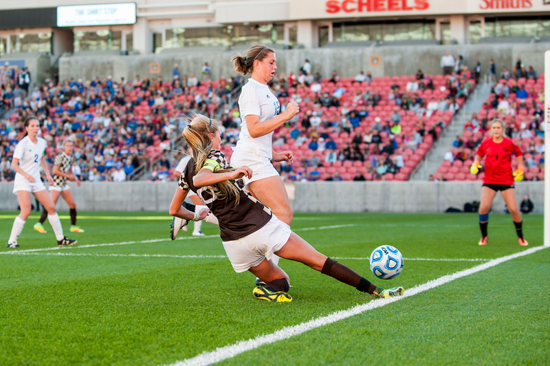 The Davis girls soccer team won their third straight 5A championship against Fremont High, at Rio Tinto Stadium in Sandy on October 21, 2016. Davis got ahead in the first half 2-1 over Fremont and never let the lead slip to take the win.