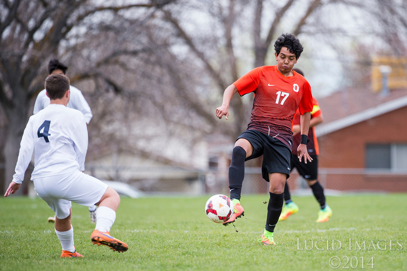 The Bonneville Lakers hosted the Ogden Tigers in a prep soccer game on Tuesday, April 11, 2017, at Bonneville High School, in Washington Terrace.