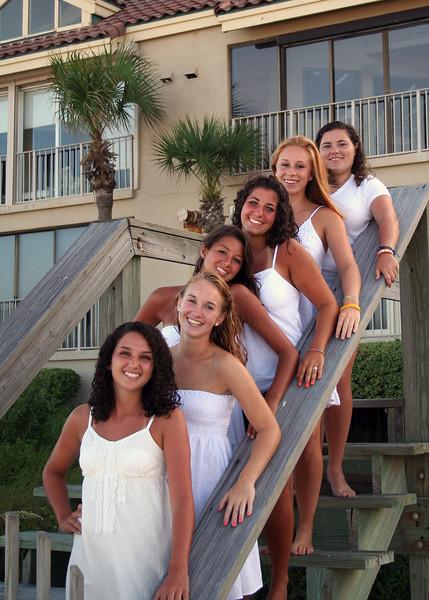 Lacrosse Girls On the Beach