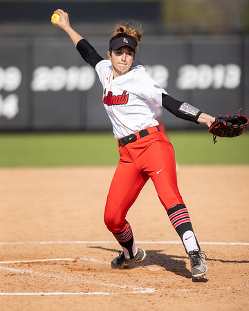 Ball State softball defeats Ohio on Friday's second game of the doubleheader 3-2. Photo by Tony Vasquez for Indy Sports Daily.