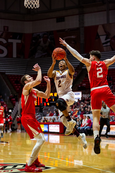 Ball State University men's basketball vs. Central Michigan at Worthen Arena on February 23, 2019. Photo by Tony Vasquez for Indy Sports Daily