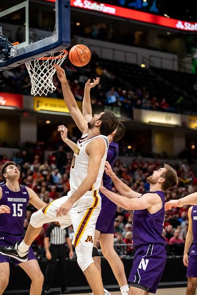 Minnesota vs Northwestern at Bankers Life Fieldhouse in Indianapolis, Indiana on March 11, 2020. Final Score Minnesota 74 - Northwestern 57 Photo by Tony Vasquez for Indy Sports Daily