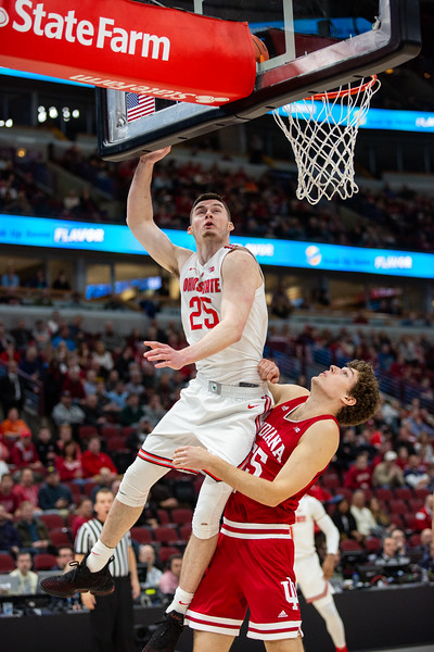 Indiana University vs. Ohio State at the United Center in Chicago, Illinois on March 13, 2019. Final score IU 75 & OSU 79