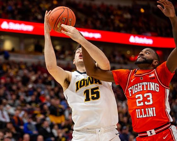 Illinois vs. Iowa at the United Center in Chicago, Illinois on March 13, 2019. Final score Iowa 83 - Illinois 62. Photo by Tony vasquez for Indy Sports Daily.