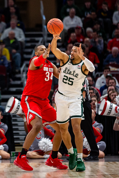 Michigan State vs. Ohio State at the United Center in Chicago, Illinois on March 15, 2019. Final score Michigan State 67 - Wisconsin 55. Photo by Tony Vasquez for Indy Sports Daily.