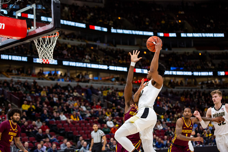 Purdue vs. Minnesota at the United Center in Chicago, Illinois on March 13, 2019. Final score Minnesota 75 - Purdue 73. Photo by Tony Vasquez for Indy Sports Daily.