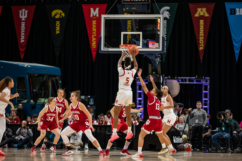 Indiana vs Maryland in the Big Ten Tourney in Indianapolis, IN. The final score Maryland 66 - Indiana 51. Photo by Tony Vasquez for Indy Sports Daily.