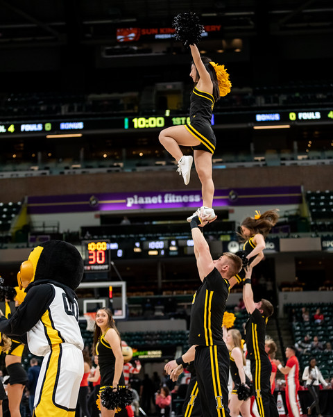 Iowa vs Ohio State at Bankers Life Fieldhouse in Indianapolis, Indiana on March 6, 2020. Final score Ohio State 87 - Iowa 66. Photo by Tony Vasquez for Indy Sports Daily.