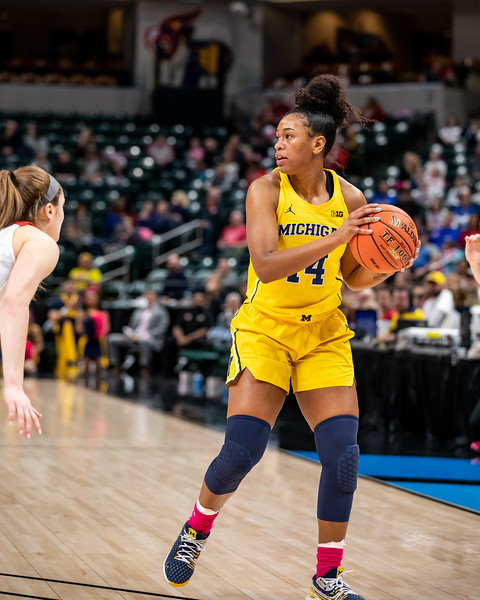 Michigan vs Ohio State at Bankers Life Fieldhouse in Indianapolis, Indiana on March 7, 2020. Final score Michigan 60 - Ohio State 66. Photo by Tony Vasquez for Indy Sports Daily
