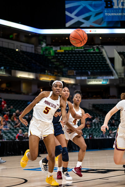 Minnesota vs Penn State at Bankers Life Fieldhouse in Indianapolis, Indiana on March 4,2020.  Final Score Minnesota 85 - Penn State 65. Photo by Tony Vasquez for Indy Sports Daily