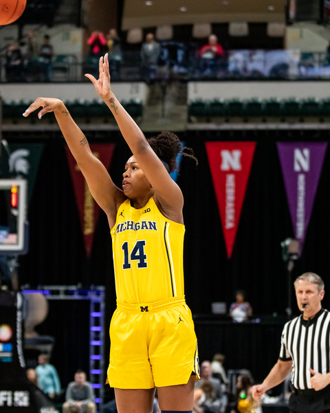 Nebraska vs. Michigan at Bankers Life Fieldhouse in Indianapolis, Indiana on, March 5, 2020. Photo by Tony Vasquez for Indy Sports Daily