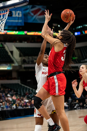 Ohio State vs. Maryland at Bankers Life Fieldhouse in Indianapolis, Indiana, on March 8, 2020. Final score Maryland 82 - Ohio State 65. Photo by Tony Vasquez for Indy Sports Daily.
