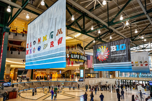 B1G Tourney at Bankers Life Fieldhouse in Indianapolis, IN. Photo by Tony Vasquez