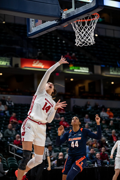 Wisconsin vs Illinois at Bankers Life Fieldhouse in Indianapolis, Indiana on March 4,2020. Final score 71 -55. Photo by Tony Vasquez for Indy Sports Daily.